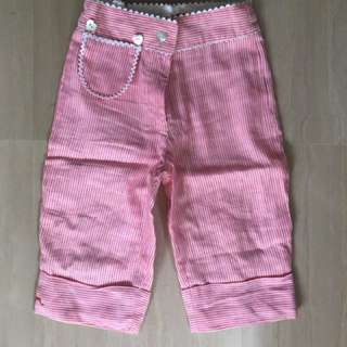 Striped Black and Red Short Pants 4-5yrs
