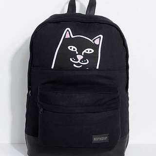 Ripndip中指貓黑色特別版背包$550
