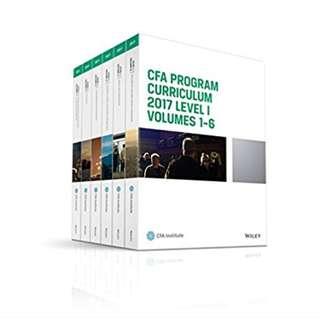 CFA Level 1 Textbook 2017 (Complete Set)