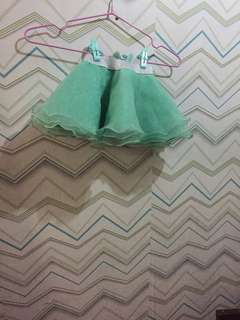 Teal color tutu skirt