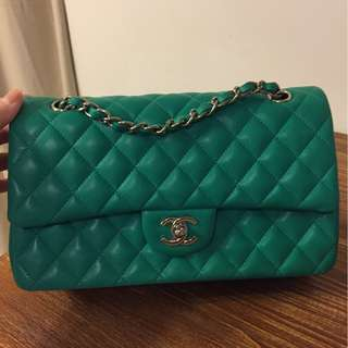 Chanel 2.55 255 classic apple green 蘋果綠 not vintage