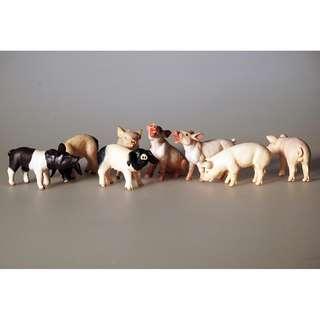 Schleich, papo farm animal figurines