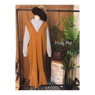 🚚 轉賣.Hug me假兩件式魚尾洋裝