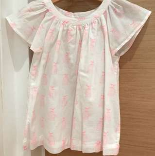 Baby Gap blouse with flutter sleeves