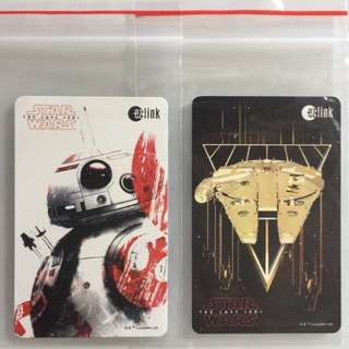 Limited Edition brand new GV Star Wars BB-8 And Falcon Millennium ezlink Cards For $8 Each .