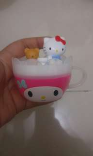 Gelas Plastik Mini Hello Kitty (ada tutup)