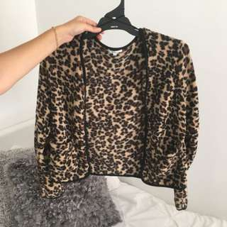 Soft leopard jacket