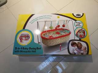 My Dear 2 in 1 Baby Swing Bed with Mosquito Net