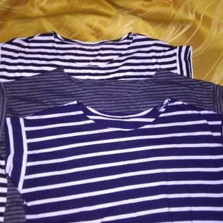 3 pieces Loose Striped Blouse