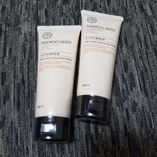 (2x100ml) The Face Shop Mango Seed Cleansing Foam
