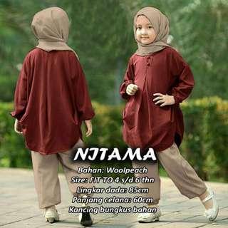 NITAMA 3IN1 GAMIS SET KIDS MAROON