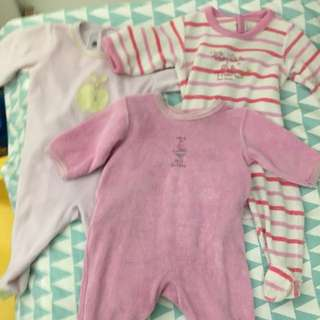Petit bateau footed pajamas for 3 months