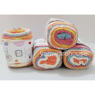 Rainbow Cotton Yarn Cake Color: 19 (Limited Stock) S$3.50 for 1 Cake