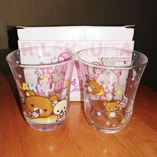 鬆弛熊玻璃杯1對