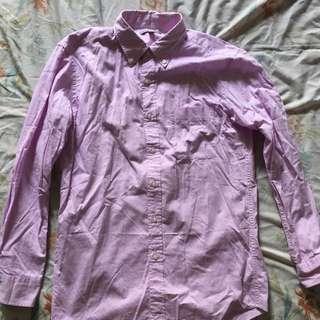 Uniqlo Long Sleeved Shirt Pink