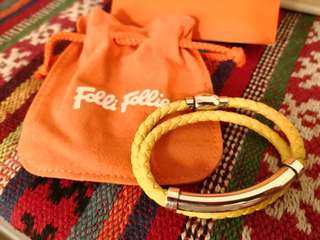 【Brand New】Folli Follie Bracelet Yellow 手鏈 全新