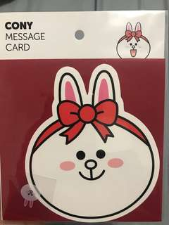 Line Friends Message Card - Cony / Brown (KOREA)
