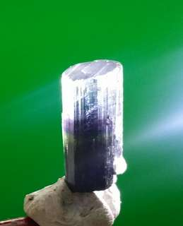 Very rare Blue Purple Green Tourmaline Crystal