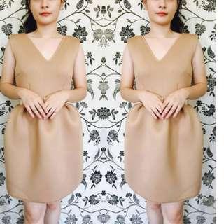 NEOPRENE BARBIE SCUBA DRESS (BEIGE)