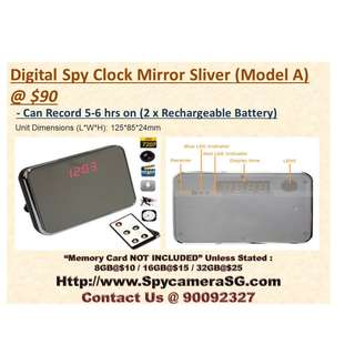 Spy Camera Clock Mirror  Long Recording