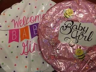 Helium Balloons - Baby Girl 2pcs