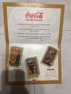 Coca cola collectibles phonecard