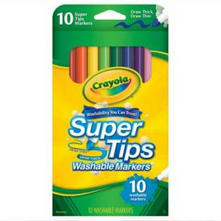 Brand New Crayola Supertips Washable Markers 10