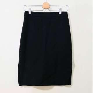 💜 ZARA 香港購入 全新 未下水 後拉式 側開岔 鉛筆裙 窄裙 黑