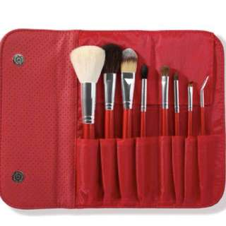 Authentic Morphe 8 Piece Candy Apple Red Brush Set