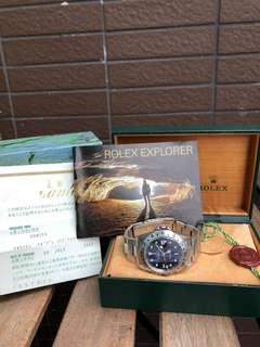Rolex 勞力士16570 EXPLORER II ,Y頭(約2002年),購自2003年有日本出世紙
