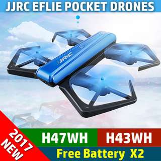 【JJRC】【H43WH】 Foldable Pocket Drone ★ 2M Camera ★ WiFi FPV 720P ★ 2 Battery