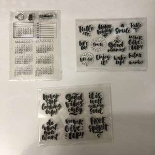Clear Rubber Stamps (Calendar / Calligraphy)