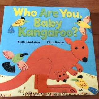 0-2Y EUC Who Are you Baby Kangaroo Board book