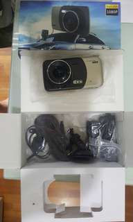 Car video camera front and rear with free broad mirror
