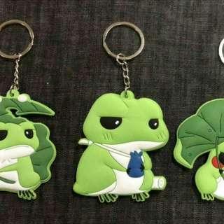 🚚 旅遊蛙鑰匙圈