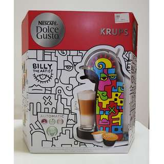 [Clearance Sale!] Nescafe Dolce Gusto Genio 2 BILLY THE ARTIST LIMITED EDITION MODEL:KP160H65 Capsule Coffee Machine