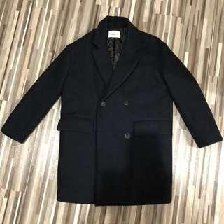 🚚 《降價!》韓國 超保暖鋪棉深藍色大衣