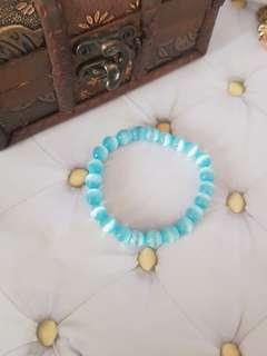 🆕️Light Blue Stone Beaded Bracelet