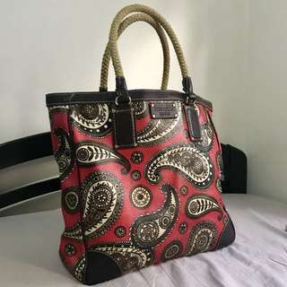 Kate Spade red printed tote bag