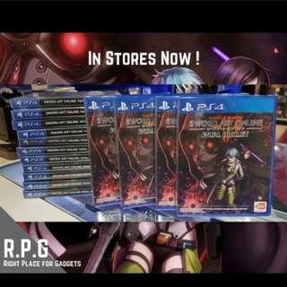 PS4 Game: Sword Art Online Fatal Bullet Restocks!