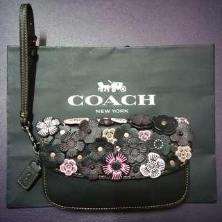 Coach 小茶香玫瑰小手袋 small bag
