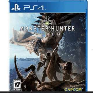 PS4 Game: Monster Hunter World