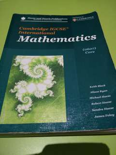 Cambridge IGCSE International Mathematics Textbook