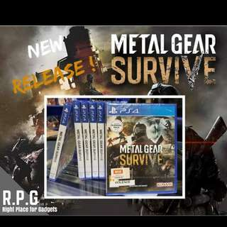 PS4 Game: Metal Gear Survive
