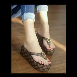 Sandal LV jh62 coklat