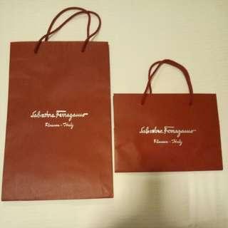 Salvatore Ferragamo Paper Bags (2 nos)
