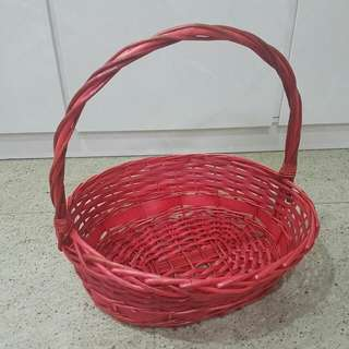 Red Basket - wedding!