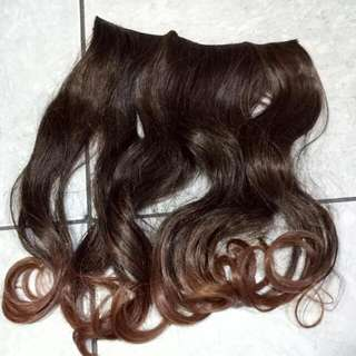 Hair Clip Ombre Dark To Light Brown