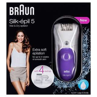 Braun Epilator Silk 5 + 1 Yr Warranty