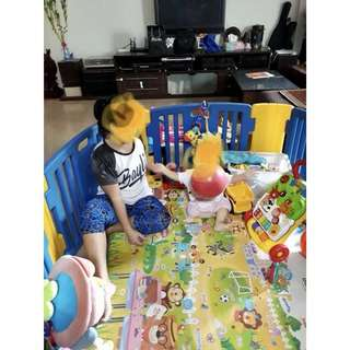 Korean Play pen 6 panels with musical activity board